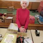Greta volunteering at the Blythswood Shoe Box Appeal, November 2015.