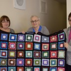 Blanket made by Knitters and Stitchers, September 2015.